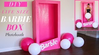 Life Size Barbie Box    Dollar Tree DIY Barbie Party Decor Ideas