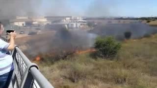 Incendio en el Polígono Son Castelló de Palma