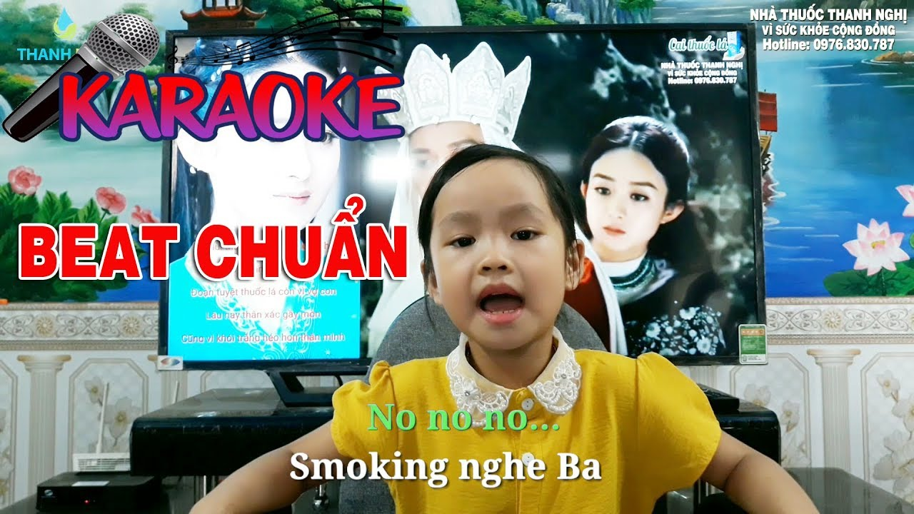 Karaoke Đừng Hút Thuốc Ba Ơi (No Smoking) - Nhạc Beat Chuẩn - YouTube