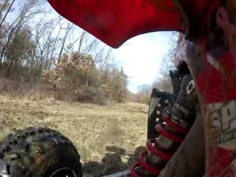 Riding the 450 Around my Property in Liberty, IL