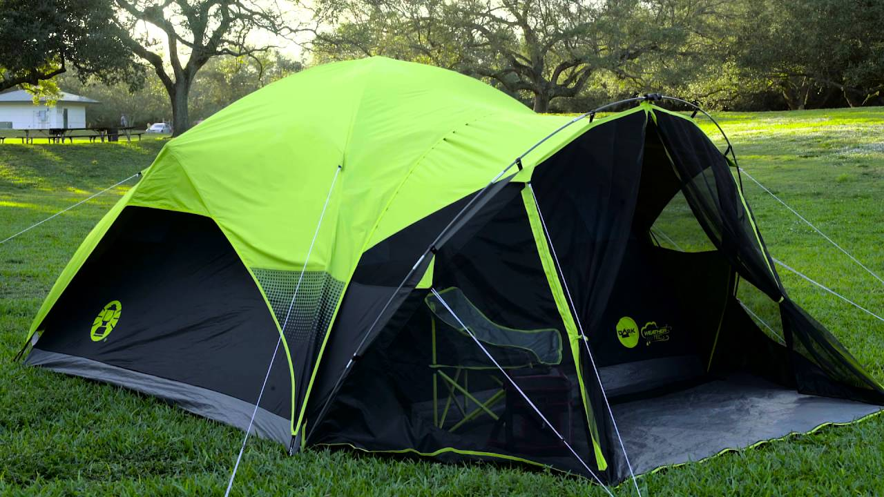 & Coleman Darkroom Tent - YouTube