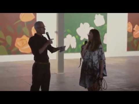 Alex Katz walkthrough with Laura Owens and Kevin Salatino at 356 Mission