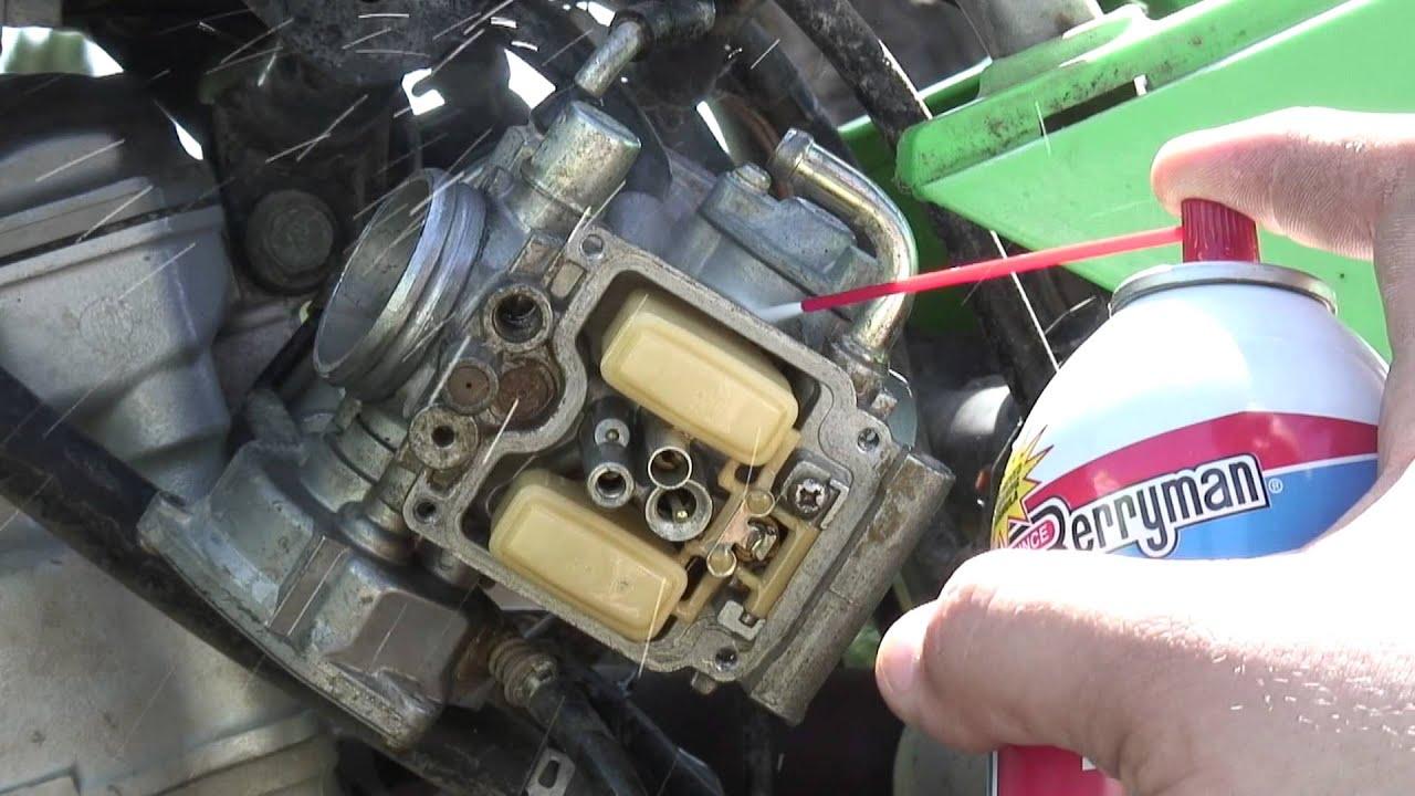 2003 Kawasaki KFX400 Carburetor Cleaning  YouTube