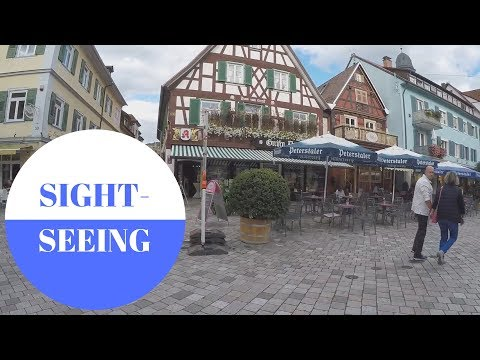SIGHTSEEING in Oberkirch in Black Forest in GERMANY