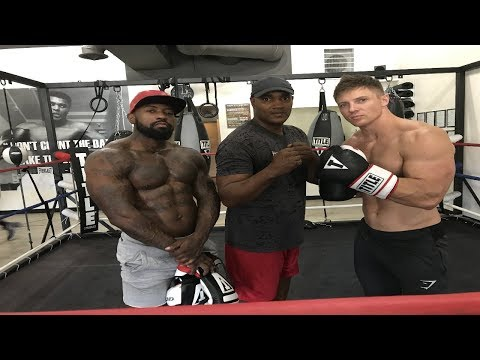 Steve Cook and I put the gloves on today before the Mayweather, McGregor fight