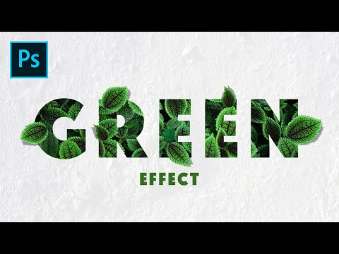 Realistic Leaves Text Effect in Photoshop | Photoshop Tutorial thumbnail