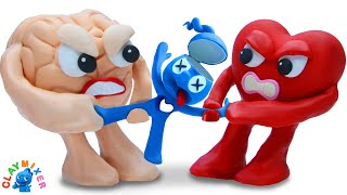 Tiny's Stuck in The Heart \u0026 Mind Game - Funny Moment Stop Motion Animation Cartoons