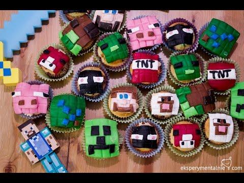 W Kuchni Z Dzieckiem Urodzinowe Muffiny Minecraft Youtube