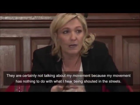 Marine Le Pen At The Oxford Union