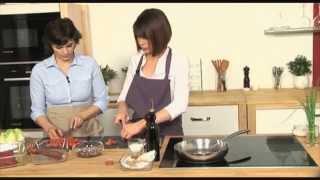 Cooking | RECETTE simple Pavé de Bœuf piqué au Chorizo, sauce Vierge