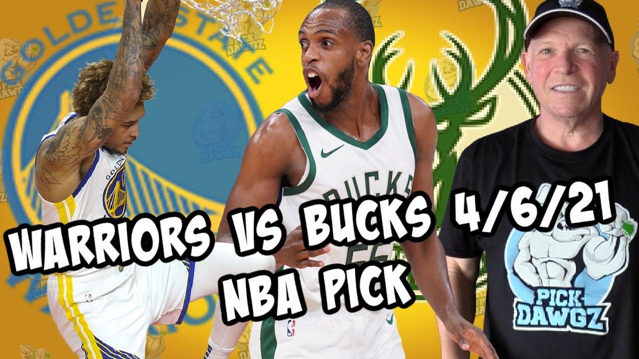 Golden State Warriors vs Milwaukee Bucks 4/6/21 Free NBA Pick and  Prediction NBA Betting Tips - YouTube