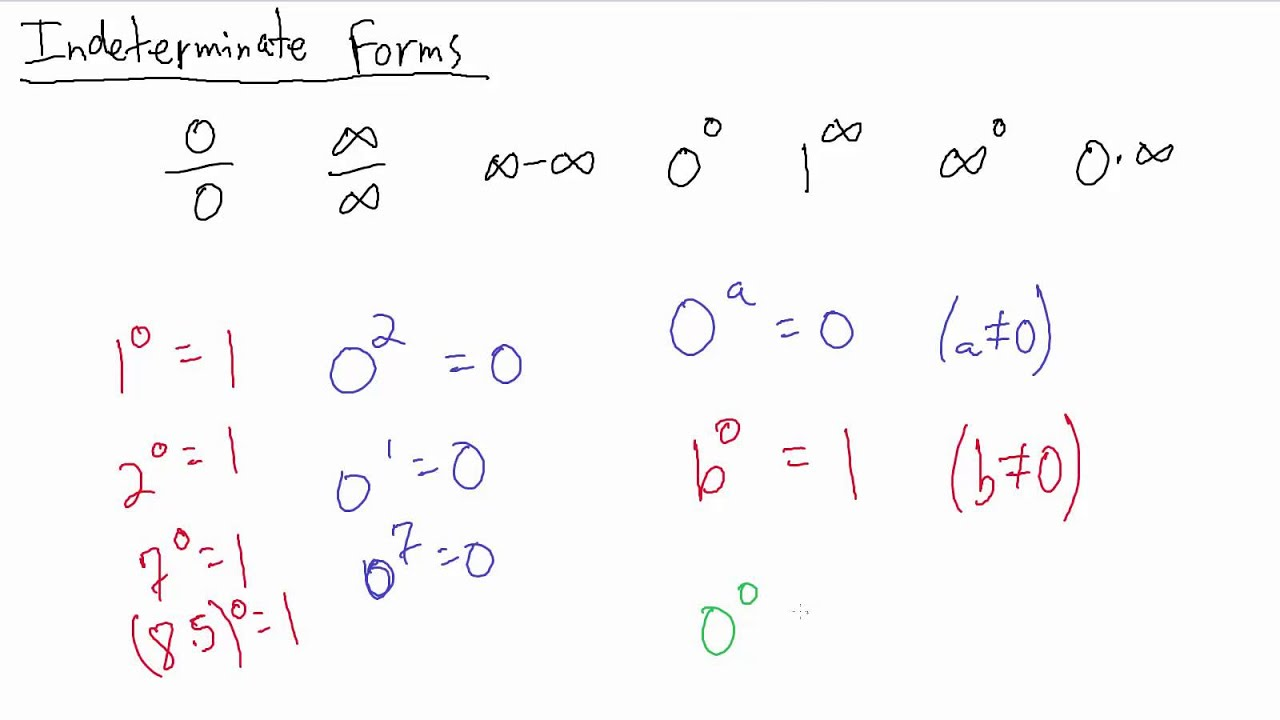 Calculus - Indeterminate Forms