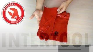Перчатки с покрытием поливинилхлоридом SP-0006, SP-0007. Обзорное видео перчаток INTERTOOL