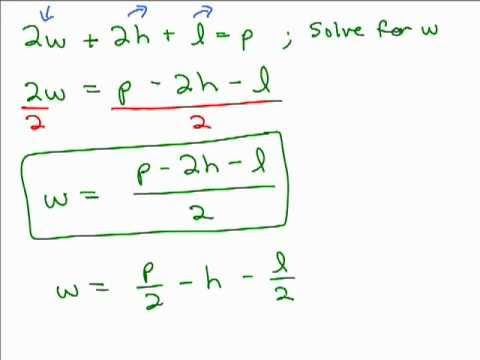 Solving Literal Equations Part 1 Youtube