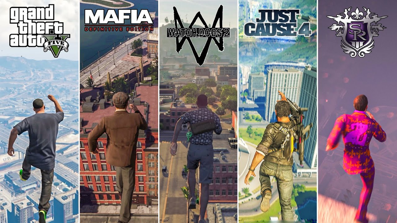 Jumping From HIGH PLACES in 13 OPEN-WORLD Games (2004-2021)