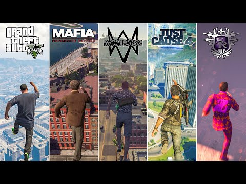 Jumping From HIGH PLACES in OPEN-WORLD Games (2004-2021) |