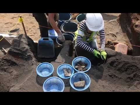 Archaeological dig in Singapore