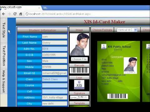 id card maker youtube