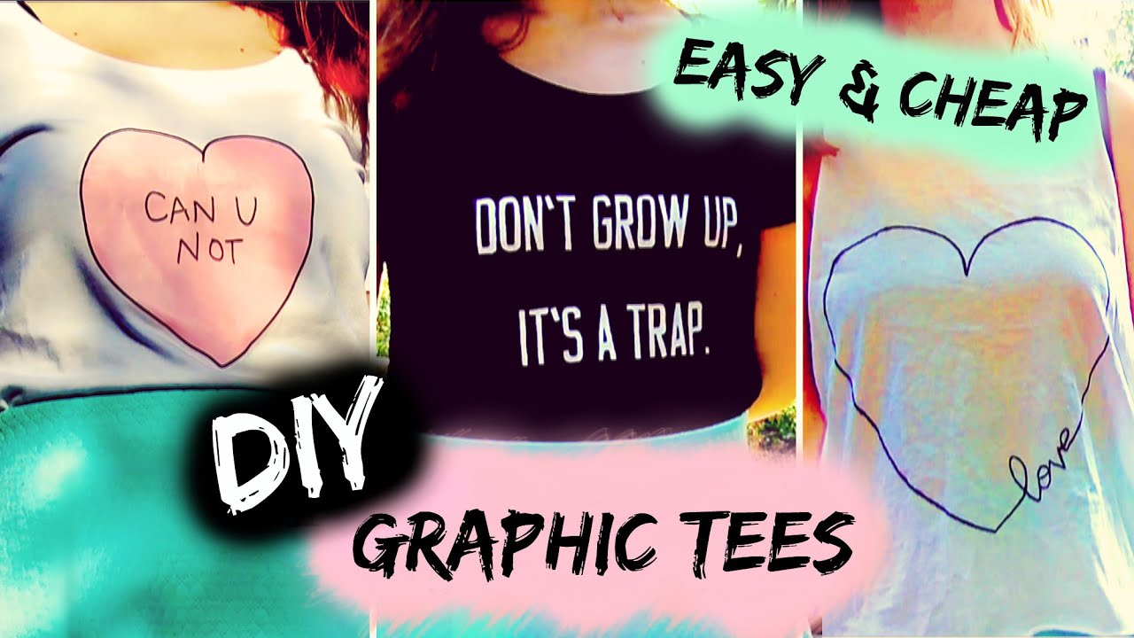 Diy t shirt ideas inspired by tumblr easy cute graphic for How to put a picture on a shirt diy