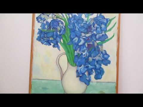父の日に贈れなかった絵 【modern art painting】 ゴッホのアイリス Gogh