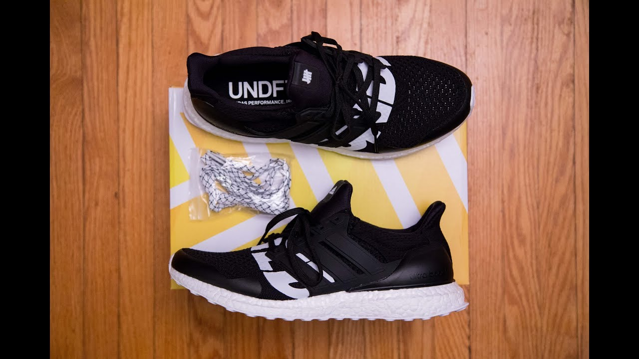 5be0bda42412e3 Adidas Ultra Boost  Core Black  by UNDFTD (Undefeated) Review and On Feet