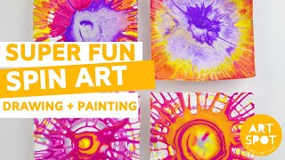 Printmaking for Kids: Super Fun Spin Art!