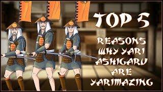 TOP 5 REASONS WHY YARI ASHIGARU ARE YARIMAZING - Total War: Shogun 2!