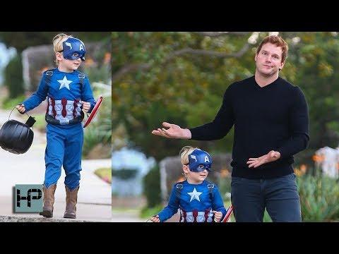 Chris Pratt's Son WINS Halloween... Goes As Captain America