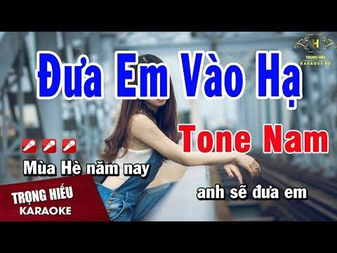 Karaoke Đưa Em Vào Hạ Tone Nam Nhạc Sống | Trọng Hiếu