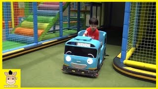 Fun Indoor Playground for Kids and Family at Tayo the little bus garage | MariAndKids Toys