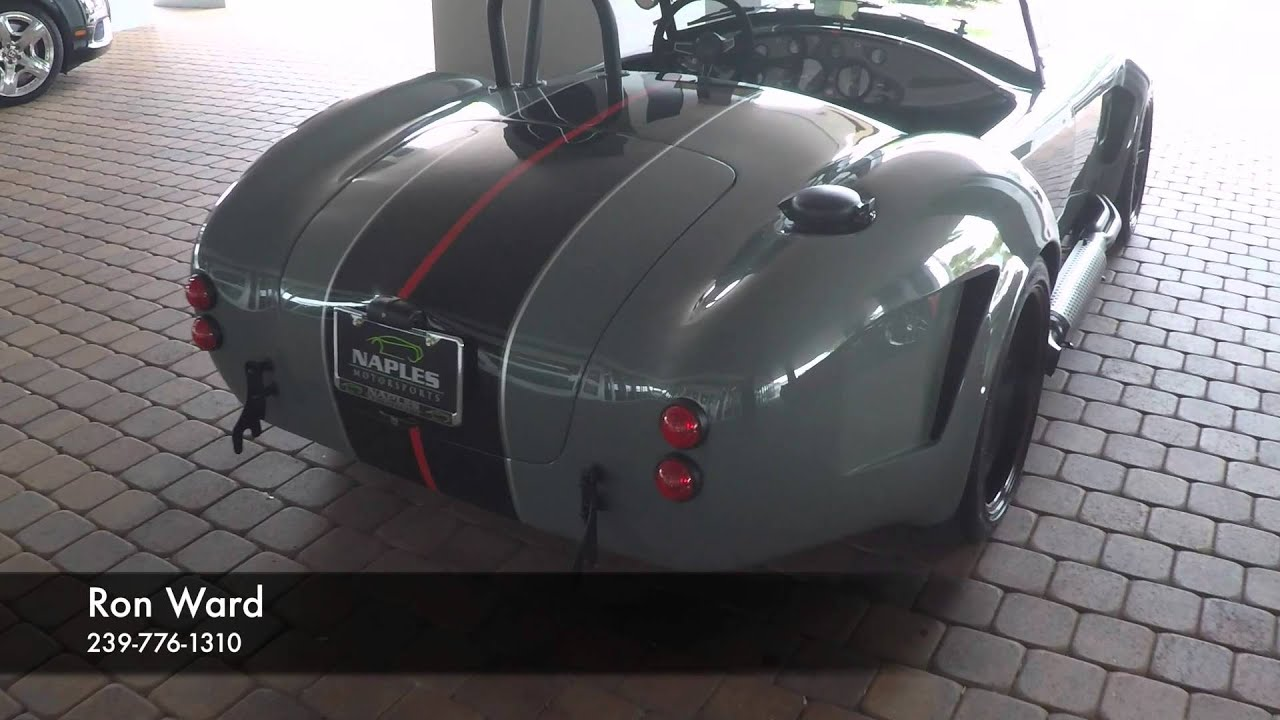 1965 Backdraft Racing Shelby Cobra Convertible Grigio Medio For Sale