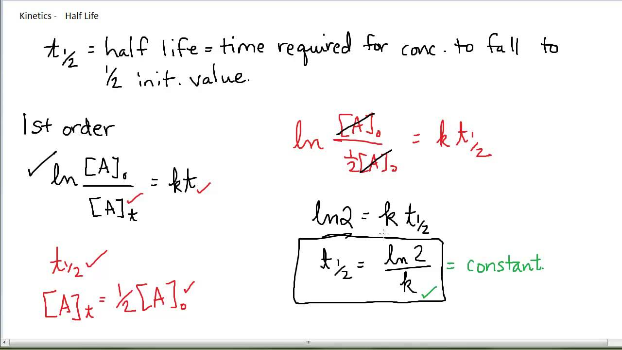 how to calculate half life formula