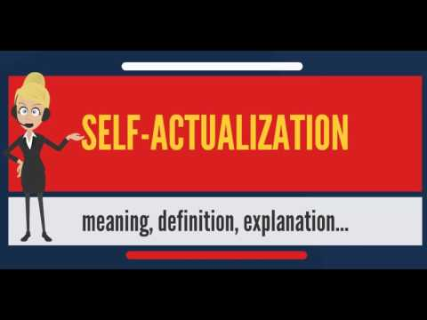 What is SELFACTUALIZATION? What does SELFACTUALIZATION mean? SELFACTUALIZATION meaning