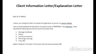 How To Write Explanation Letter Client