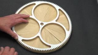 Repeat youtube video Solaris Clock - Segmented Wood Wheels