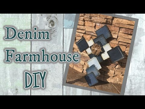 DIY Farmhouse Denim Cross | Recycled Jeans | Denim DIY's