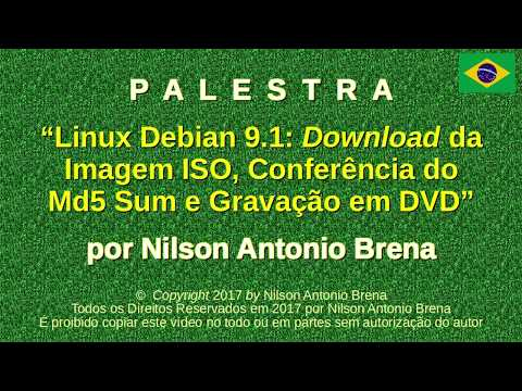 Linux Debian 9 1: Download da Imagem ISO, Conferência do Md5