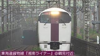東海道貨物線『湘南ライナー』@鶴見付近のトンネル出口 2019年7月
