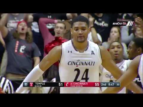 Men's Basketball Highlights: Cincinnati 81, Temple 74 (Courtesy CBS Sports Network)