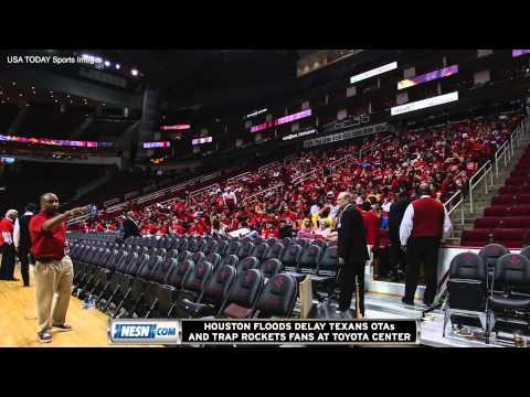 Houston Floods Trap Fans Inside Toyota Center After Rockets Game; Texans OTAs Delayed