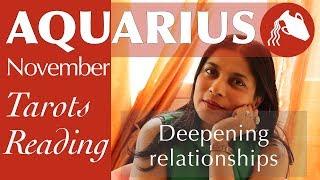 AQUARIUS NOVEMBER Tarot reading forecast