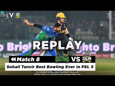 Sohail Tanvir Best Bowling Ever in PSL 5 | Peshawar Zalmi vs Multan Sultans | Match 8 | HBL PSL 2020
