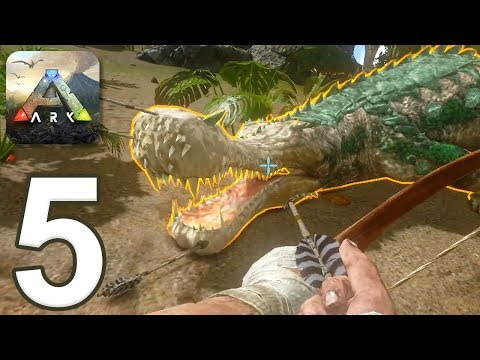 ARK: Survival Evolved Mobile - Gameplay Walkthrough Part 5 - Hunting Sarco (iOS, Android)