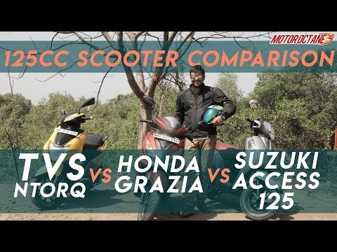 TVS NTorq vs Suzuki Access vs Honda Grazia Comparison in Hindi   MotorOctane