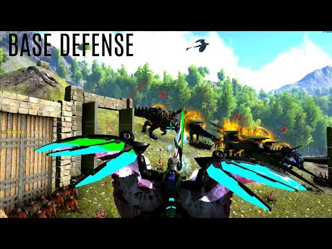 TEK BASE DEFENSE! Huge Push - Official PVP (E160) - ARK Survival