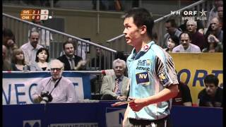 Repeat youtube video Chen Weixing (SVS NÖ) vs Jean-Michel Saive (Charleroi)