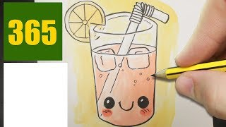 HOW TO DRAW A JUICE CUTE, Easy step by step drawing lessons for kids