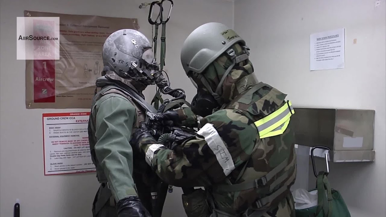 F-35 Pilots Dress For Chemical and Biological Warfare For The First