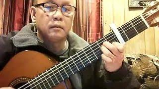 Trăng Mờ Bên Suối (Lê Mộng Nguyên) - Guitar Cover by Bao Hoang