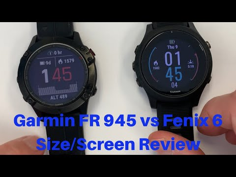 Garmin Forerunner 945 vs Fenix 6 Pro Size/Screen Review for CrossFit/HIIT Training FitGearHunter.com